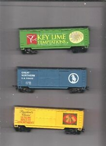 HO SCALE 6 PC LOT NICE BOX CARS.