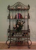 Ornate metal wine rack/display unit