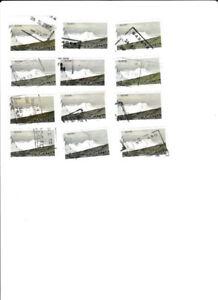12 timbres du parc national Kluane de 2$ oblitérés