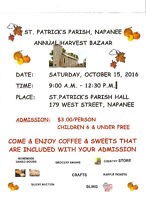 St. Patrick's Parish, Napanee Annual Harvest Bazaar