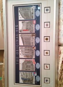 For sale Original 6 stadiums with autographed and COA