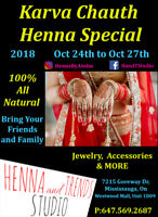KARVA CHAUTH SPECIAL AT HENNA AND TRENDS STUDIO @ WESTWOOD MALL