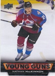 NATHAN MacKINNON .. 2013-14 Upper Deck Young Guns .. ROOKIE CARD