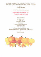 Save the date Sept 26th- Fort Erie Conservation Club Fall Fair