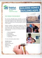WE NEED YOUR HELP!!! BUILDING HOMES, BUILDING HOPE!