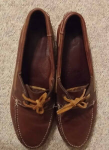 Leather Shoes size 12 Souliers cuir
