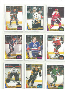 1987 -88 O PEE CHEE NHL CARDS ~ 9 DIFFERENT