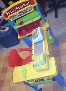 Various toys, child pram, tea set, baby alive, makeup table