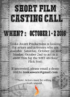 Looking for Non-Union Actors for Film Competition | WIFF 48HRFF