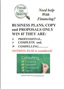 EXPERT, BARGAIN-PRICED BUSINESS PLANS,COPY and MORE!
