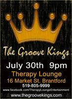 """July 30th """"The Groove Kings"""" 9pm at Therapy Lounge"""