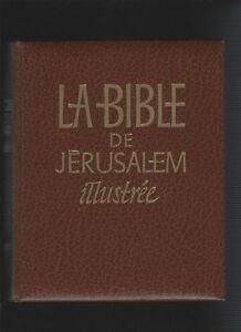 LA BIBLE DE JÉRUSALEM ILLUSTRÉE EXCELLENT ÉTAT TAXES INCLUSES