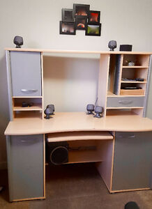 Ikea Desk with Add on, and matching printer desk West Edmonton