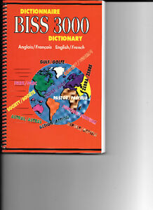 biss3000 dictionary dictionnaire English French anglais francais