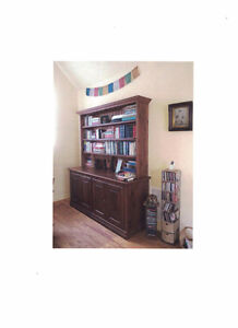 Bookcase, solid pine