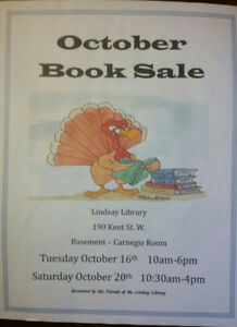 Sale of used books. Start your Christmas shopping early!
