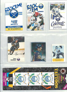 OLDER BUFFALO SABRES COLLECTIBLES ~ TATTOOS ~ SCHEDULES ~ ETC.