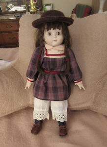 Vintage Porcelain China Doll - Cute Hat and Bloomers
