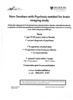 Non-Smokers with Psychosis Needed for Research Study