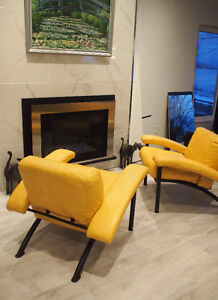 Two Art Deco Mid Century Modern Style Chairs