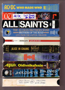 VHS music tapes $5 each or 10 for $20