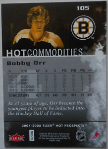 Bobby Orr , 2007-08 , Hot Prospects , Hot Commodities Gatineau Ottawa / Gatineau Area image 2