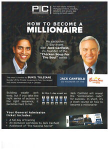 "**March 25th - Jack Canfield ""How To Be A Millionaire"" Event **"