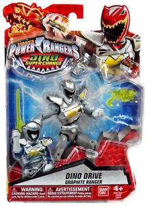 Power Rangers Dino Super Charge Dino Drive Graphite Ranger