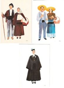 6 cartes postales : Costumes Nationaux du Portugal .
