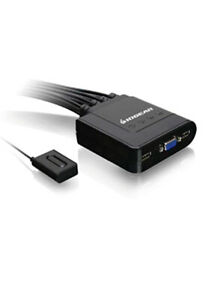 IOGEAR 4-Port USB VGA Cable KVM Switch with Cables and Remote,