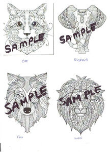 Coloring Note Cards and Envelopes - Set # 1