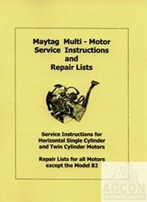Maytag Multi Motor Hit Miss Engine Service Manual 72 82 92 B 31 33 G Fw-1718