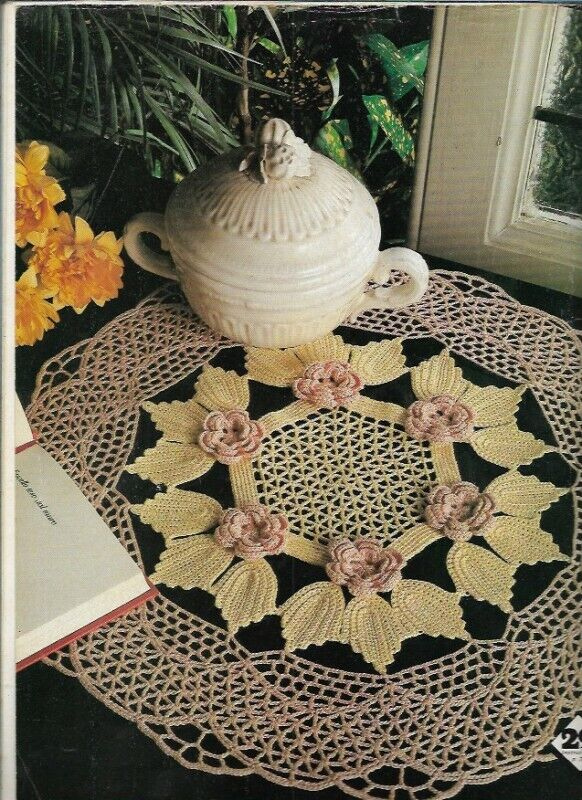 Magic Crochet No 30 Apr 1984 Folksy Fancy Flowered Colorful Mats Fashion More - $14.99