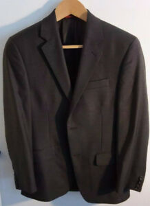 Alfani RED Men`s Brown Taupe Suite (Jacket & Pants) Slim fit