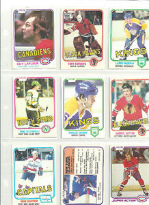 1981-82 O PEE CHEE NHL CARDS ~ 9 DIFFERENT