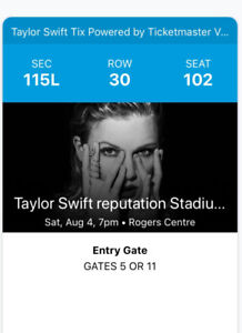 Taylor Swift Ticket For Sale $200