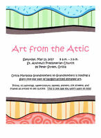 ART FROM THE ATTIC - A FUNDRAISER!!