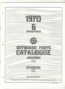 1970 6 HORSEPOWER OUTBOARD PARTS CATALOG ~ JOHNSON ~ EVINRUDE
