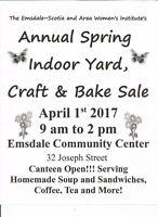 Annual Spring Indoor Yard, Craft & Bake Sale