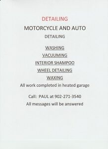 AUTO AND MOTORCYCLE DETAILING
