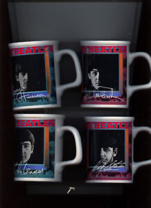 THE BEATLES PICTURE MUGS 4 OF THEM BEAUTIFUL NEVER USED 1991