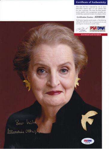 Madeleine Albright Secretary of State Signed Autograph 8x10 Photo PSA/DNA COA 10