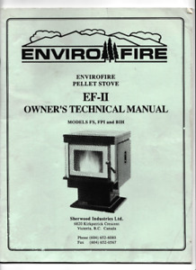 For sale ENVIORFIRE pellet stove EF-II