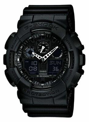 Casio Men's G-Shock Black Resin Strap Watch (GA100-1A1)