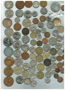 Different currency old coins
