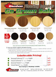 BEAUTIFUL BAMBOO FLOORING! CLEARANCE $1.99 SQUARE FT