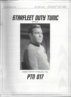 Starfleet Duty tunic pattern