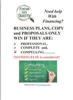 EXCELLENT BUSINESS PLANS and COPY at GREAT PRICES!