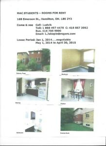 MAC STUDENTS ROOMS FOR RENT