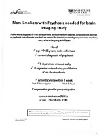 Non-smokers diagnosed with psychosis needed